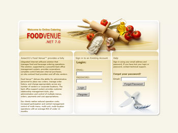 Food Venue Login Website