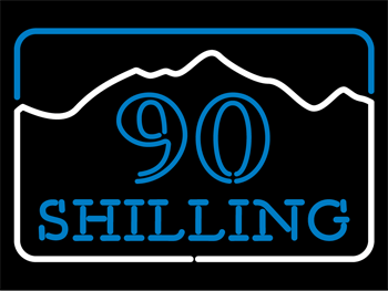 90 Shilling Neon Sign