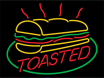 Subway Toasted Neon Sign